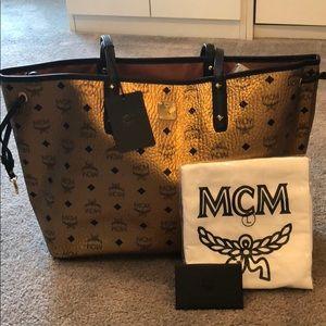MCM Gold Tote NWT